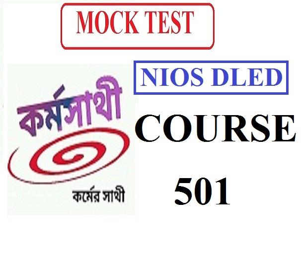 NIOS dled Course 501 mock test 1