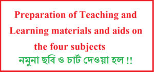 Preparation of Teaching and Learning materials and aids on the four subjects