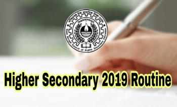 Examination programme for wbchse exam 2019