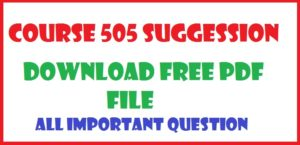 NIOS dled Course 505 Block 3 Unit 11 important question suggession