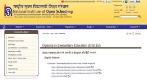 NIOS dled books and study material download free pdf file all language