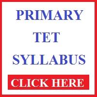 west bengal primary tet syllabus