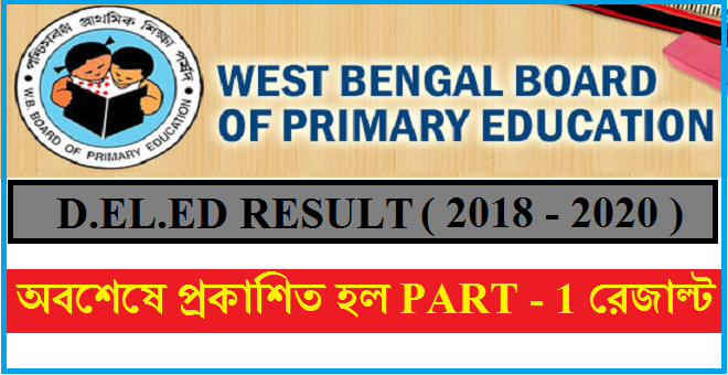 result of deled part-1 (regular/face to face mode ) examination session 2018-2020