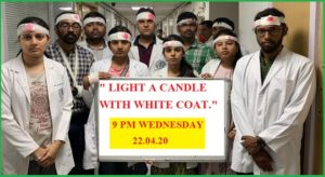 All doctors will lightning a candle with white coat