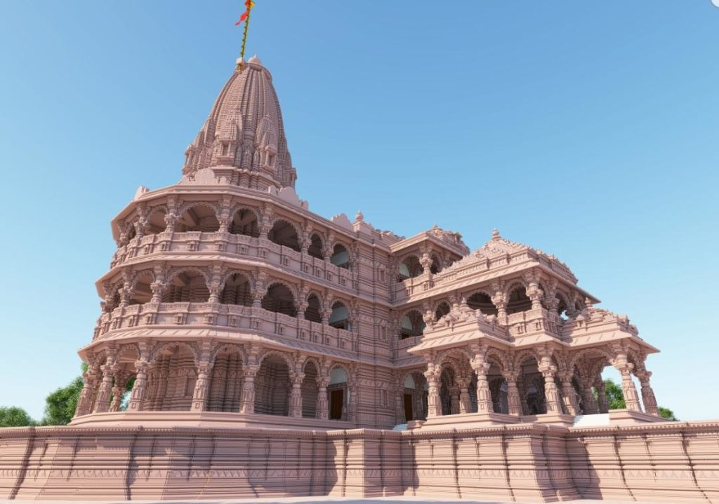 unique example of indian architecture temple trust tweets photos of ram temple in ayodhya