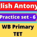 English Antonyms - WB Primary TET Practice Set -6