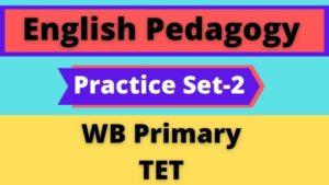 English Pedagogy – WB Primary TET Practice Set-2