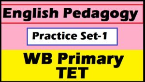 English Pedagogy - WB Primary TET Practice Set-1