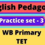 English Pedagogy – WB Primary TET Practice Set-3