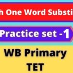 English One Word Substitution - WB Primary TET /Practice set -1