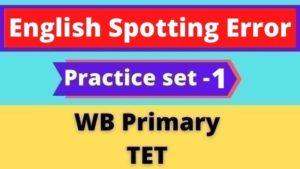 English Spotting Error - WB Primary TET Practice set -1