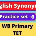 English Synonyms - WB Primary TET Practice Set - 6