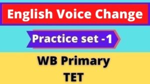 English Voice Change - WB Primary TET Practice set -1