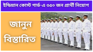 Recruitment of 350 candidates in Indian Coast Guard