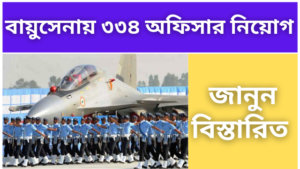 Recruitment of 334 officers in the Air Force