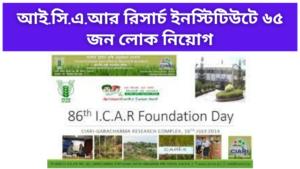 Recruitment in ICAR Research Institute