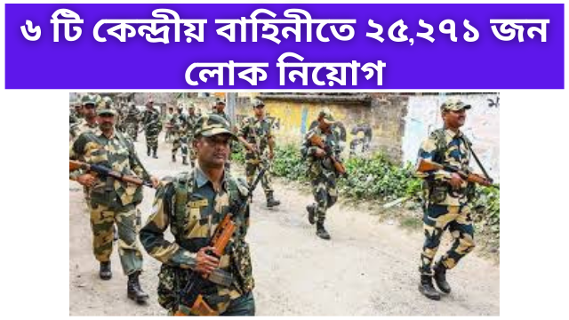 Recruitment in 25271 people Central Forces